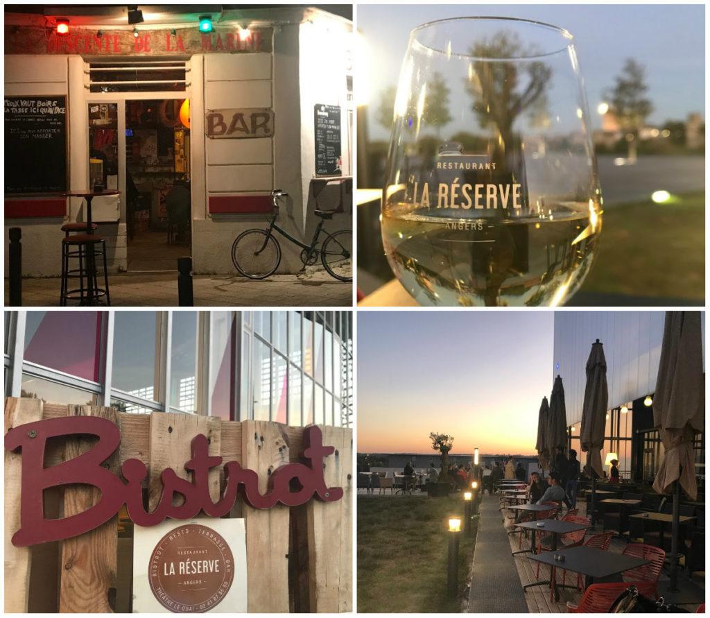 stedentrip Angers uitgaandwijk la Doutre restaurants La Reserve bars bistro
