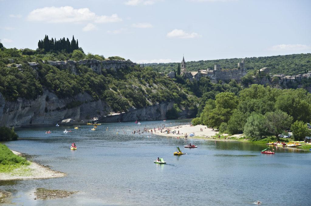 camping aan de rivier de Ardèche bij Saint-Martin