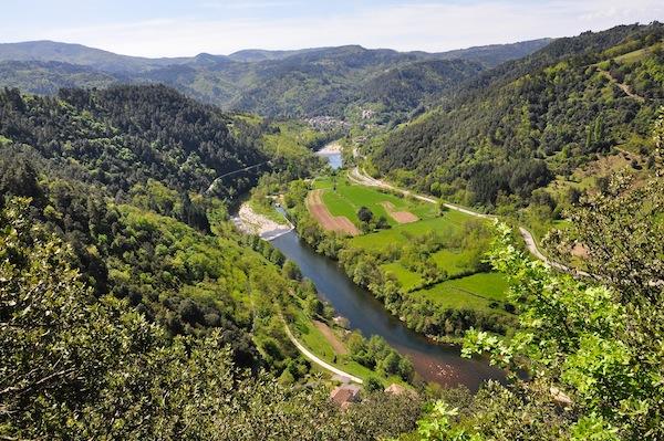 allei van de Eyrieux in de Ardèche