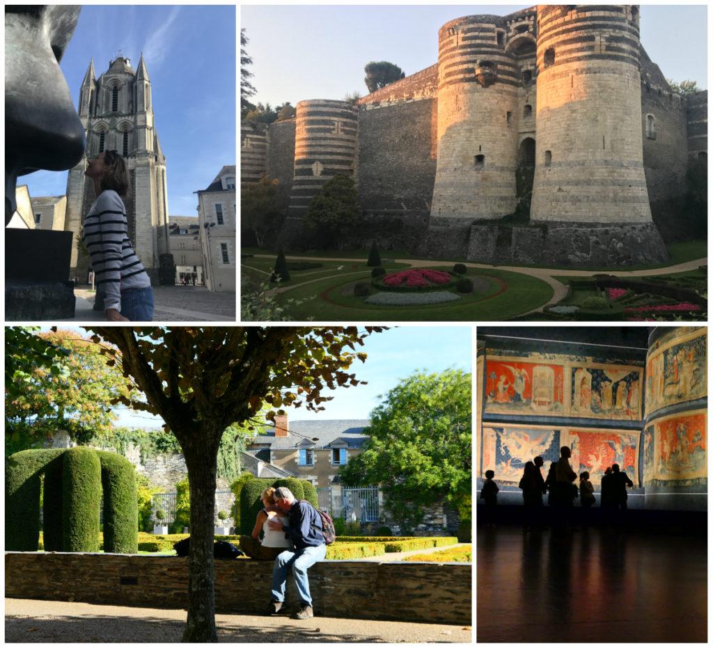 angers kasteel chateau en Wandtapijt van de Apocalyps