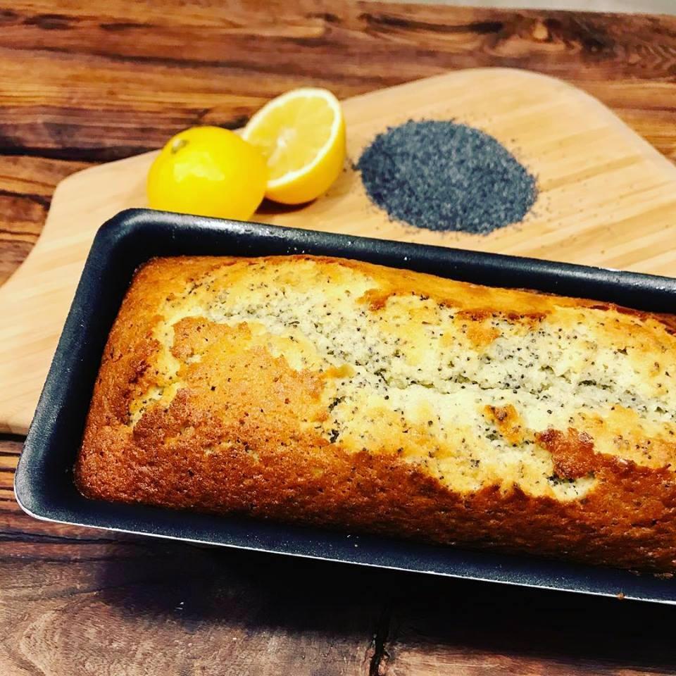 citroencake met maanzaad naar Frans recept