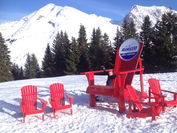 Het skigebiedje van Manigod, aan de andere kant van de Col de Croix-Fry