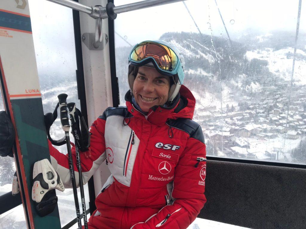 Sonia, skilerares in La Clusaz