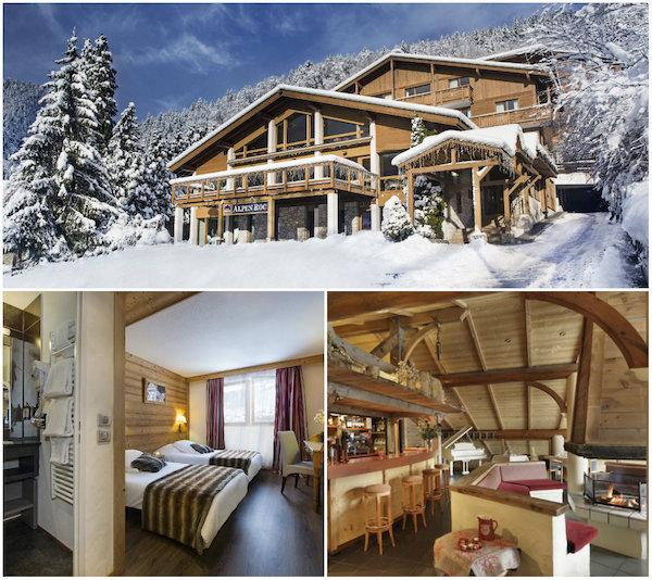Groot familiehotel in chaletstijl: Hotel Alpen Roc in La Clusaz