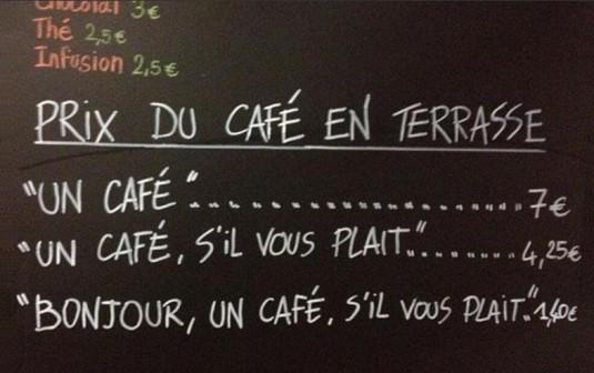 bonjour en merci zeggen in Frankrijk
