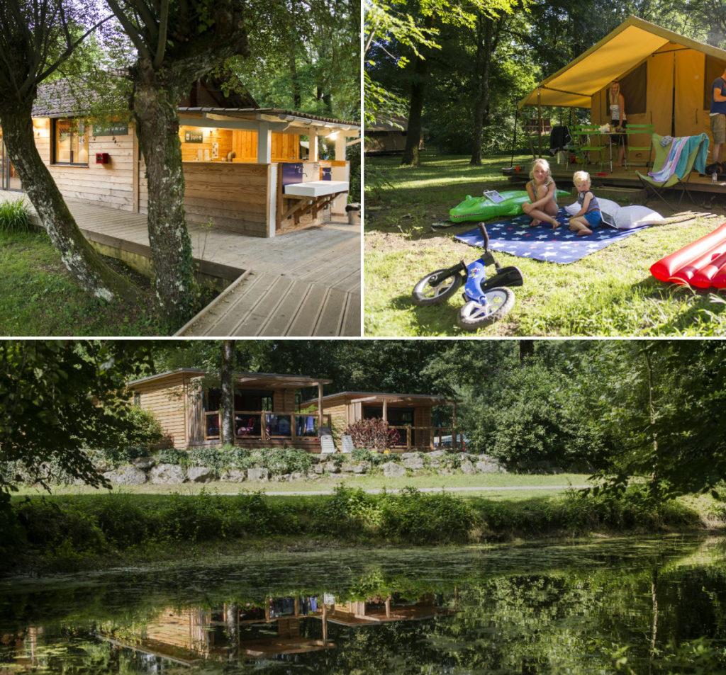 Camping Huttopia Beaulieu-sur-Dordogne (kruispunt Correze/Lot/Dordogne