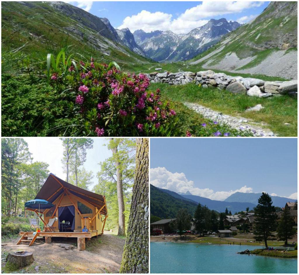 kamperen en glamping in de Franse Alpen