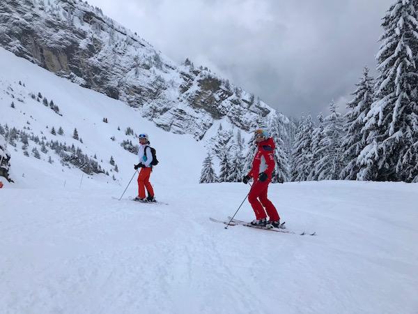 Skien in Cote de Balme, Massif de la Balme
