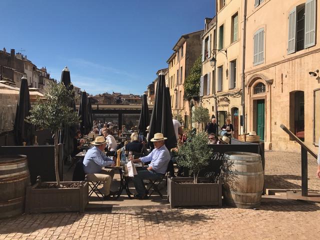 Aix en Provence zonnig terras binnenstad CC/Josee