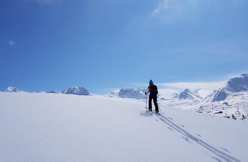 La Plagne veel sneeuw toerskien Carole
