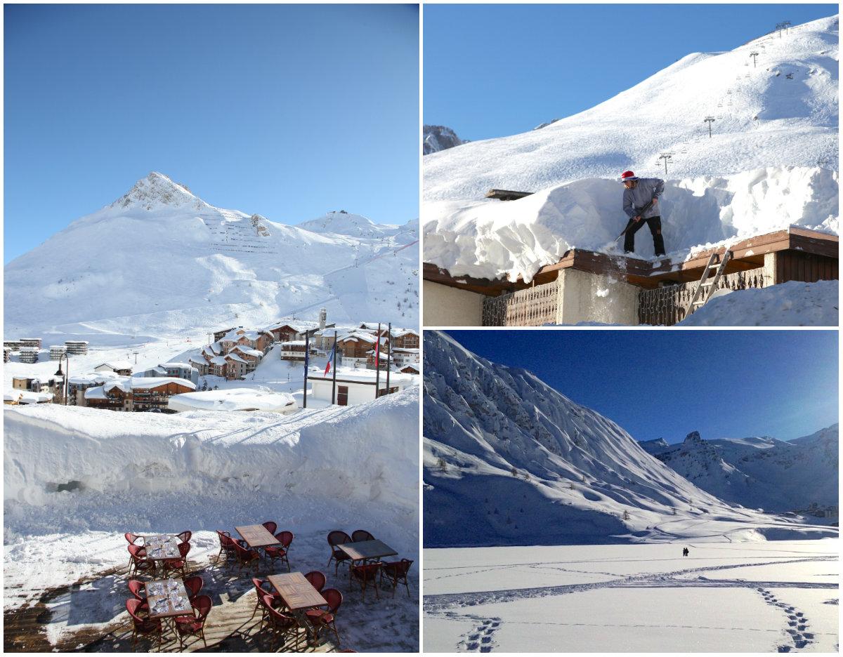 Tignes Franse Alpen wintersport veel sneeuw