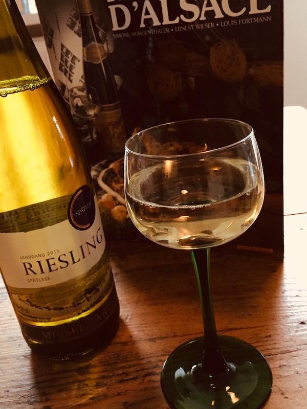 Elzas riesling koken met wijn