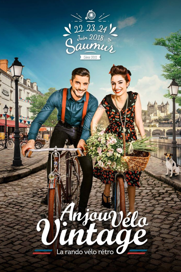 Anjou velo vintage affiche 2018