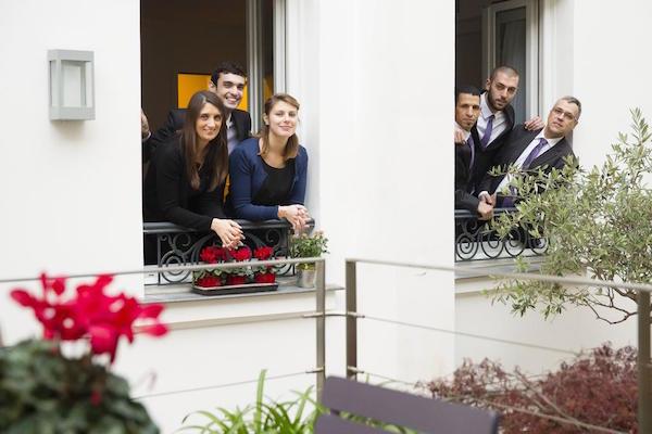 Receptie team van Hotel Mistral
