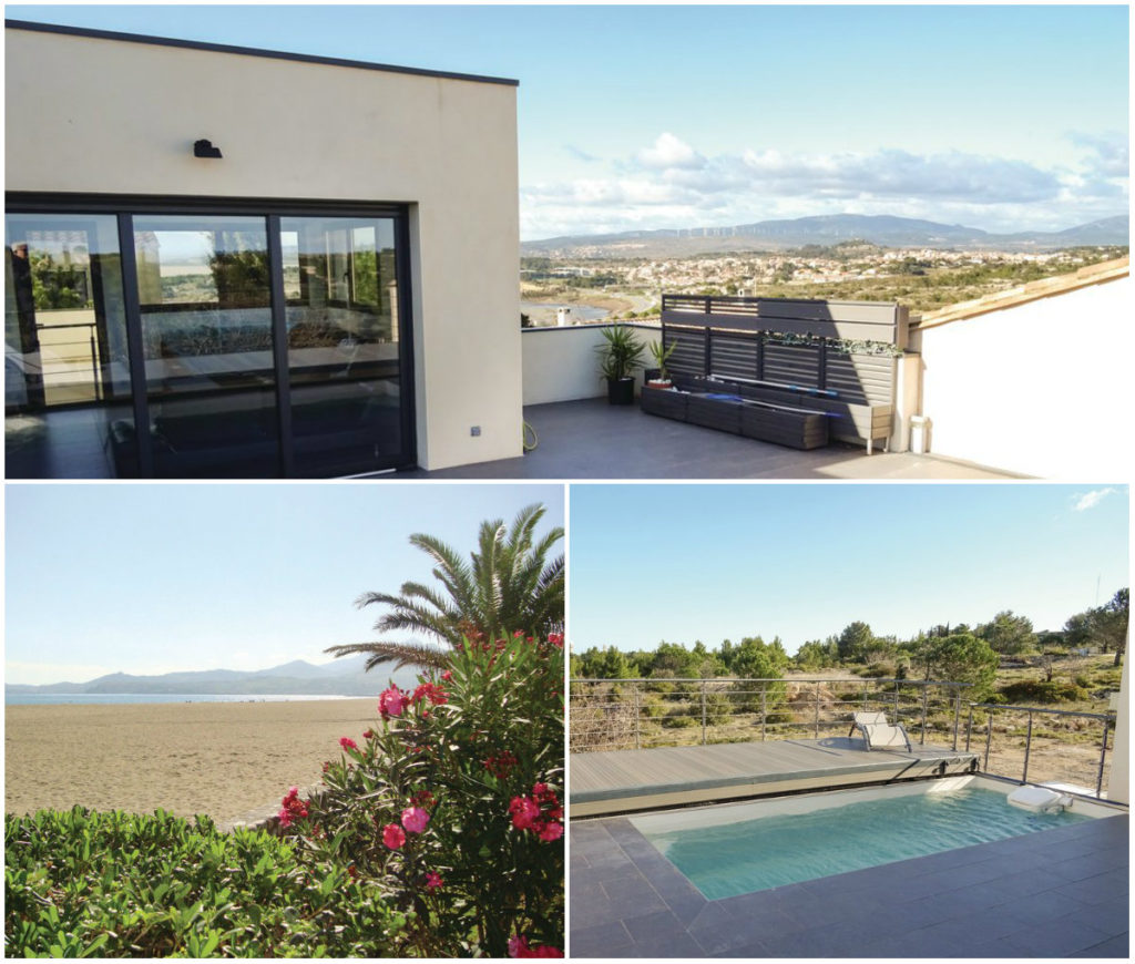 Modern vakantiehuis met uitzicht op het schiereiland van Leucate