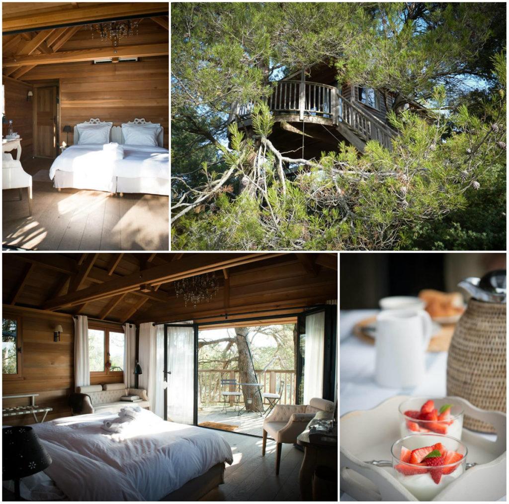 Boomhut in de Provence romantisch