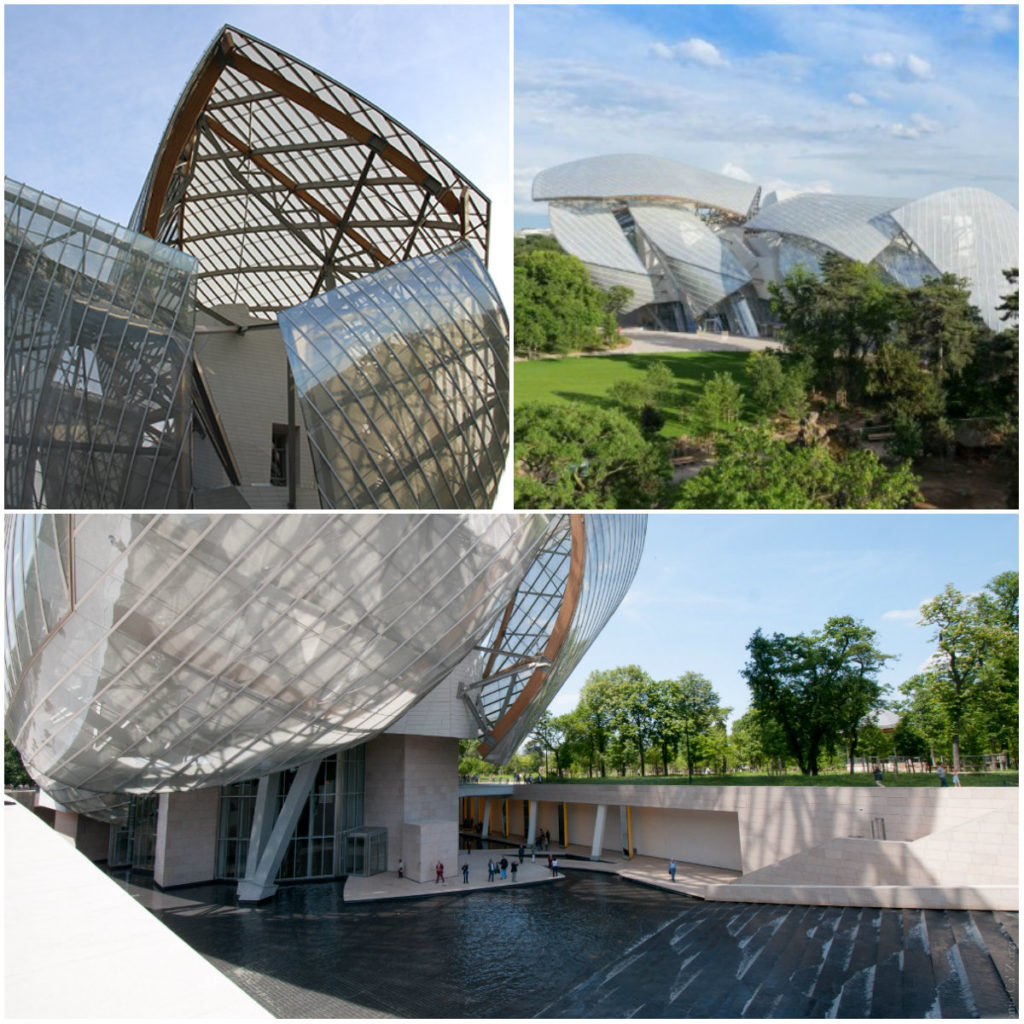 Moderne architectuur in Parijs Fondation Louis Vuitton
