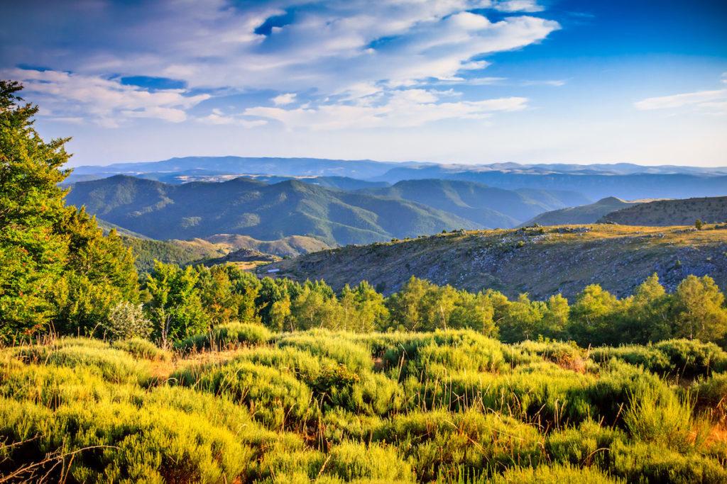berggebied Cevennen regio Occitanie