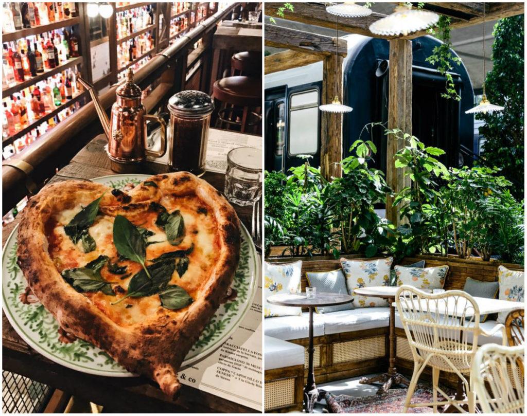 Nieuwe foodhal XL-restaurant Parijs La Feicità pizza