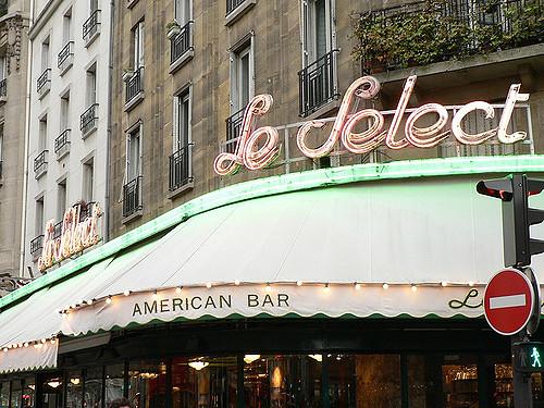 Brasserie Montparnasse Parijs bekend terras