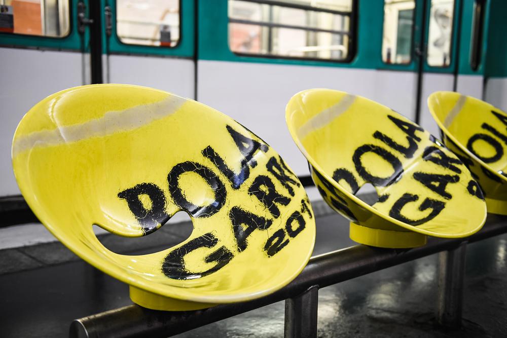 Metrostoeltjes in Parijs Roland-Garros 2018