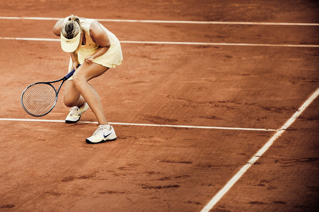 Rolan-Garros tennisbaan Maria Sharapova