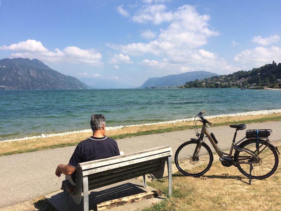 In de buurt van Lac du Bourget