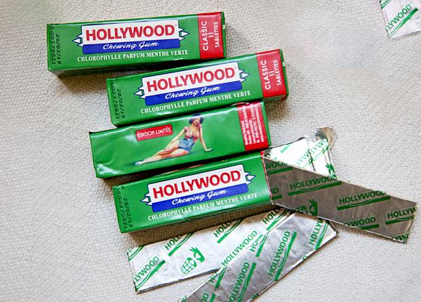 Frans snoepgoed La Vosgienne tankstatio Hollywood kauwgom
