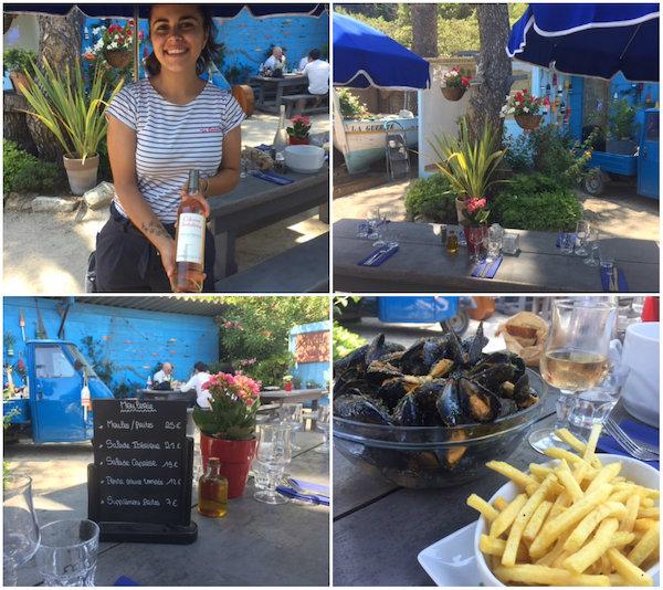 restaurant op eiland Sainte Marguerite