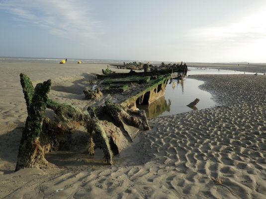 Wrak WOII Bray-Dunes Noord Frankrijk