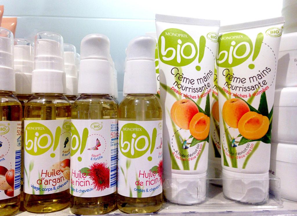 bio beautyproducten Monoprix