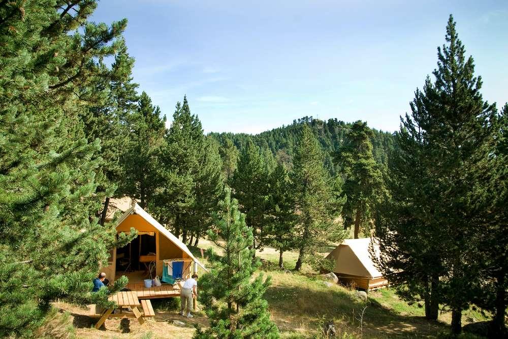Huttopia Font Romeu Camping tenten bergen