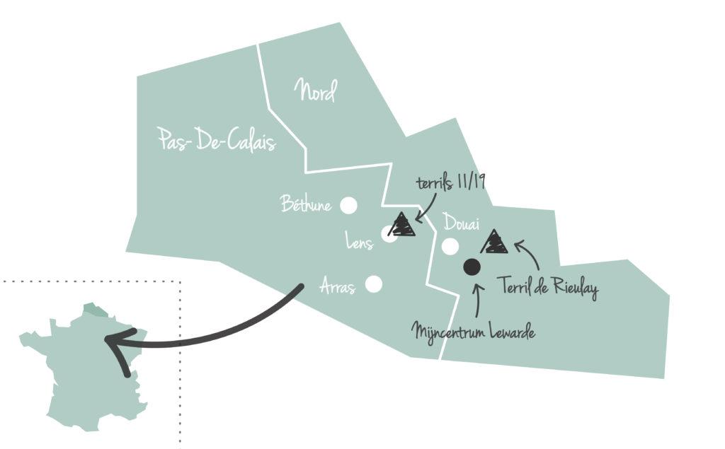 Noord Frankrijk Louvre Lens map