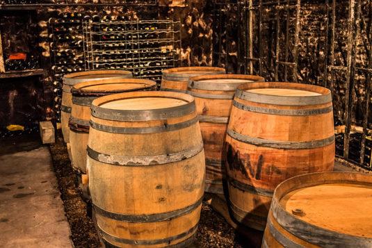 Wijnvaten in de Bourgogne