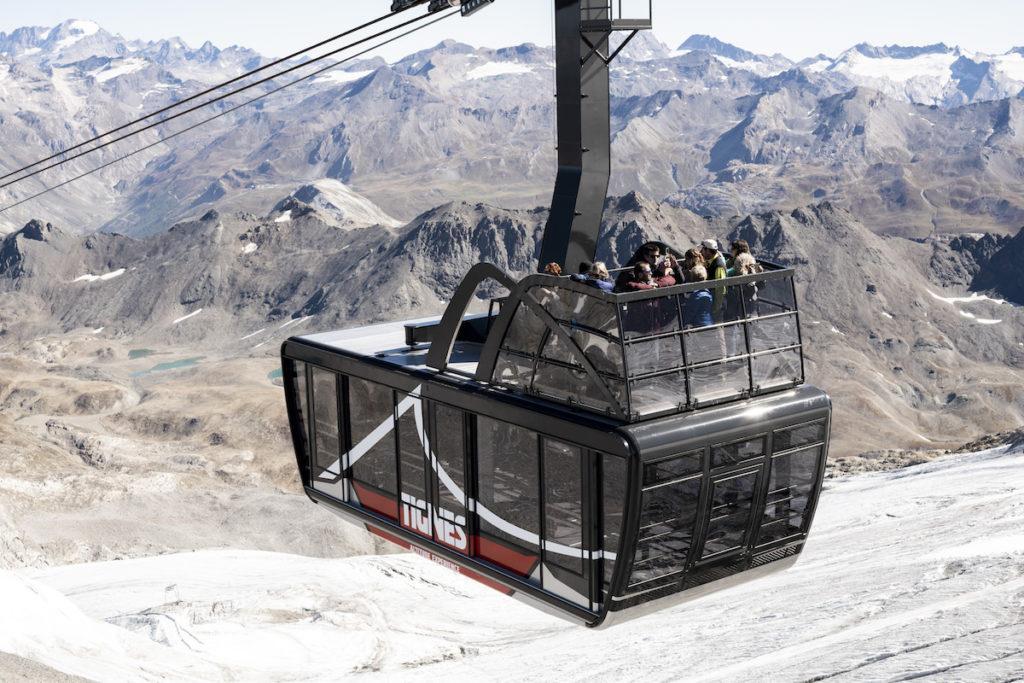 Tignes nieuwe skilift met open dak