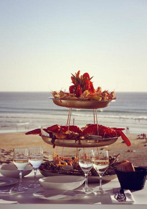 Biscarosse plage Grand Hotel Le Plage fruits de mer