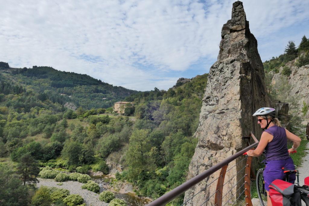 Fietsen over La Dolce Via in de Ardèche
