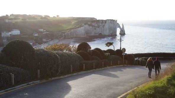Etretat Normandie kliffen