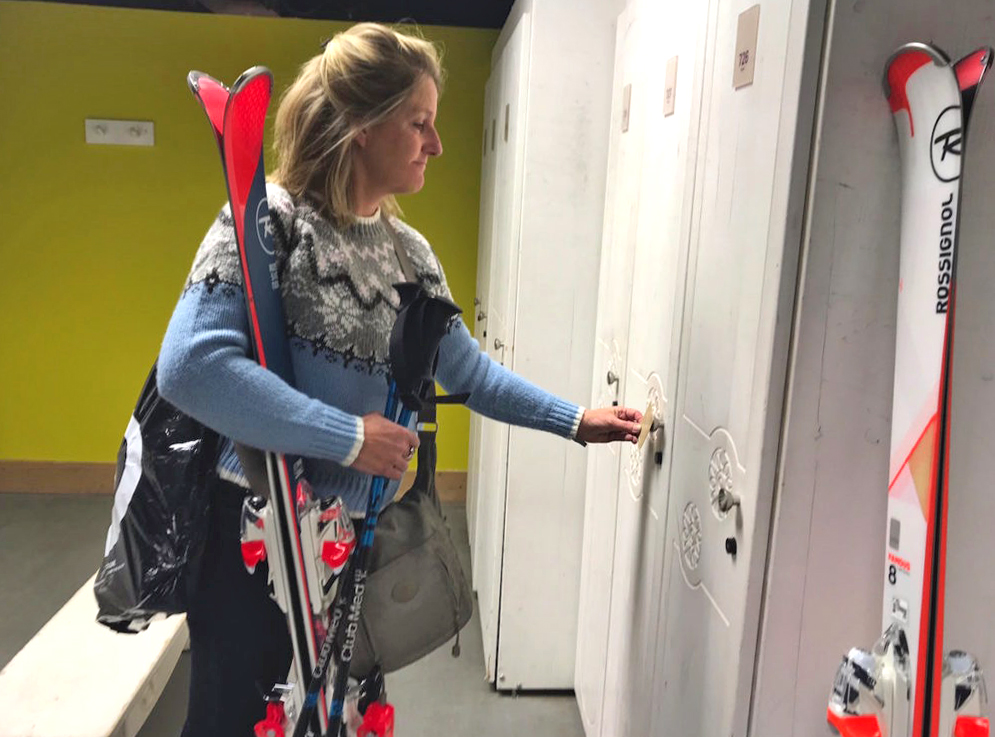 Club Med Josee in skiroom