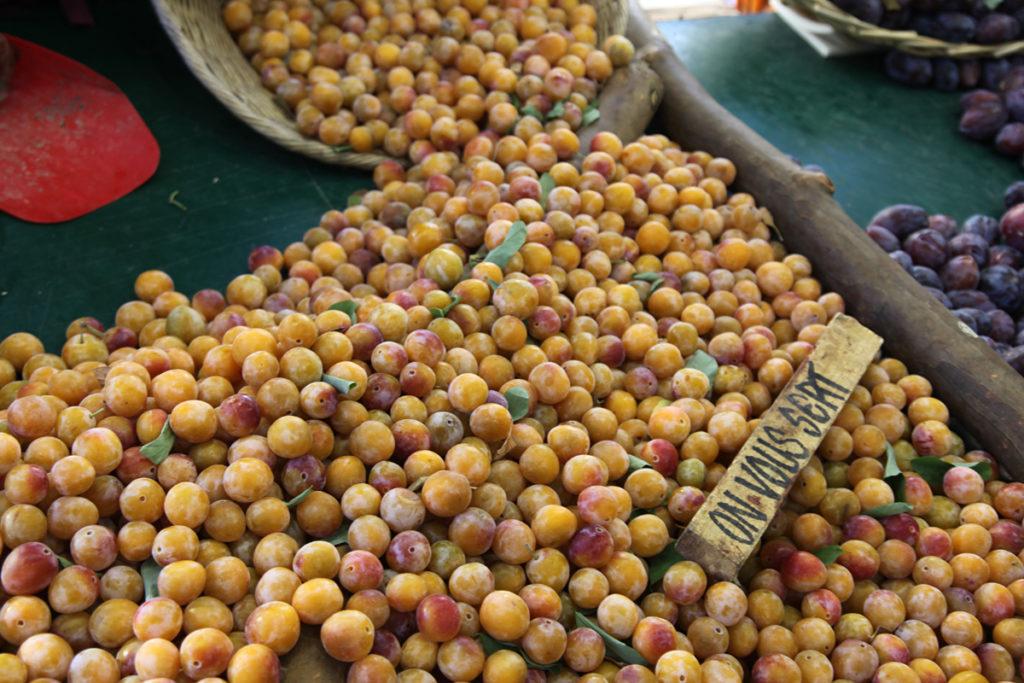 mirabellen seizoensproducten herfst Franse markt