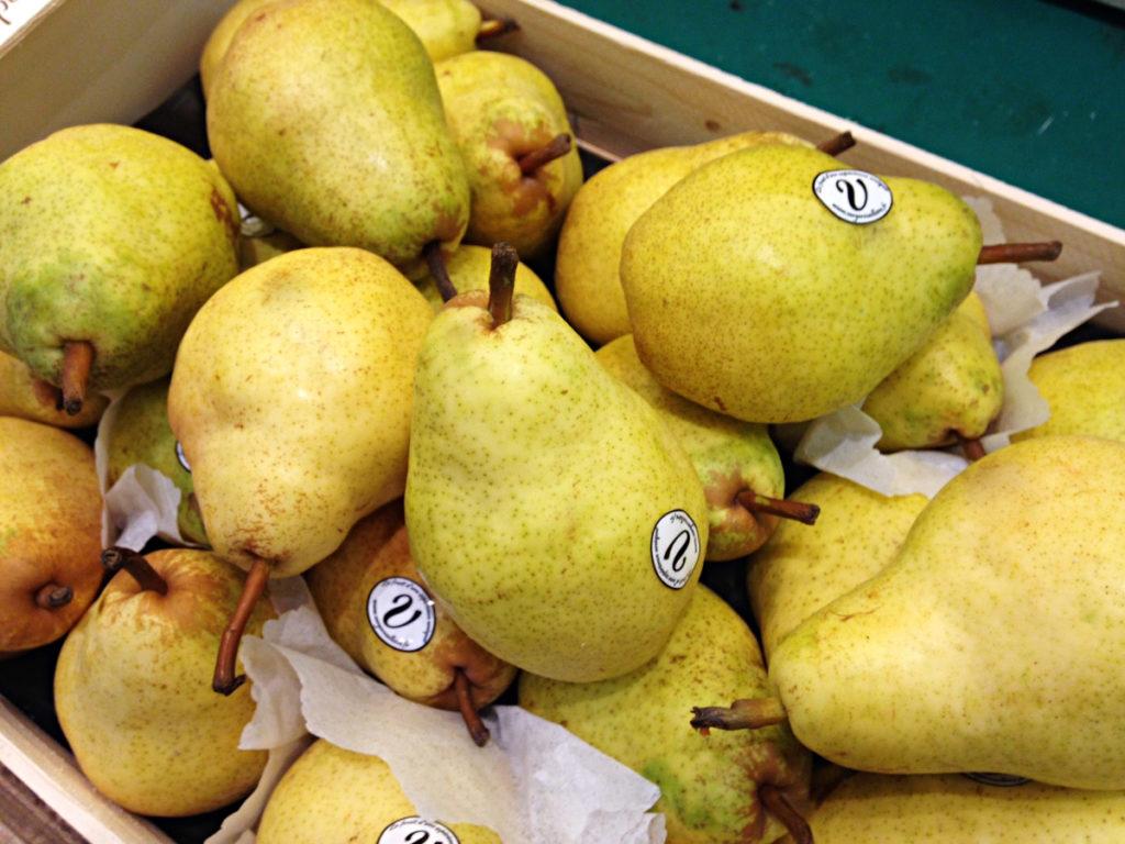 Poire Wiliams peren op de Franse markt