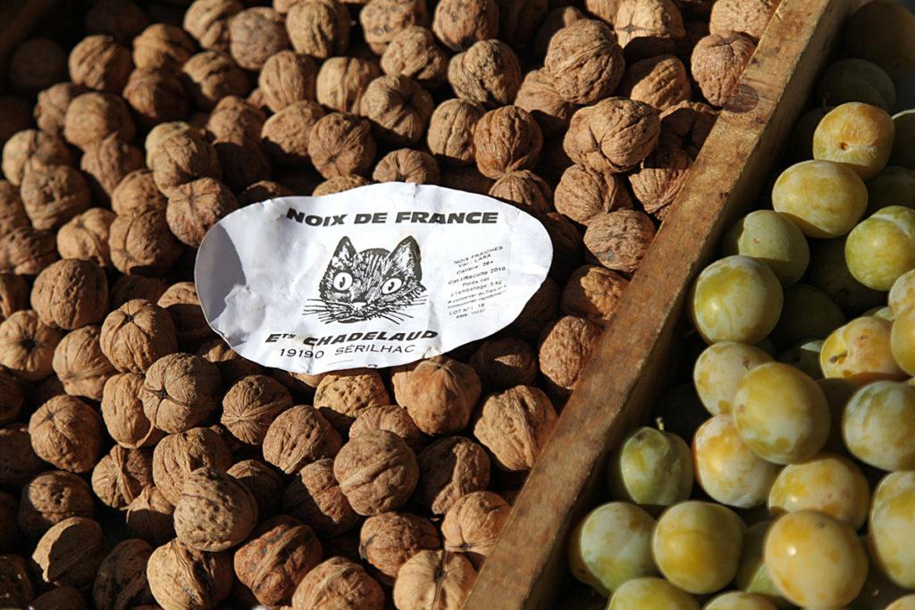 walnoten seizoensproducten herfst Franse markt