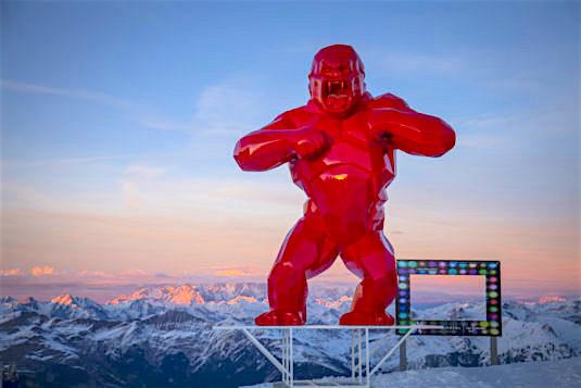 Wild Kong l'Art au Sommet Courchevel