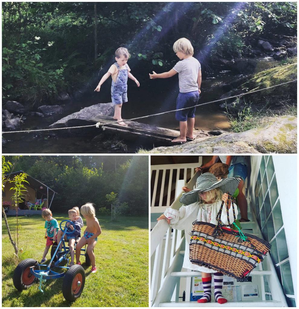 kindvriendelijk kampeervakantie vakantieadres Jarasses aan riviertje