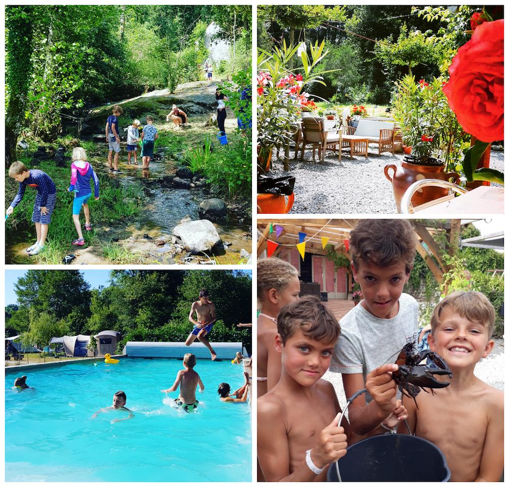 camping glamping in Frankrijk met kinderen zwembad