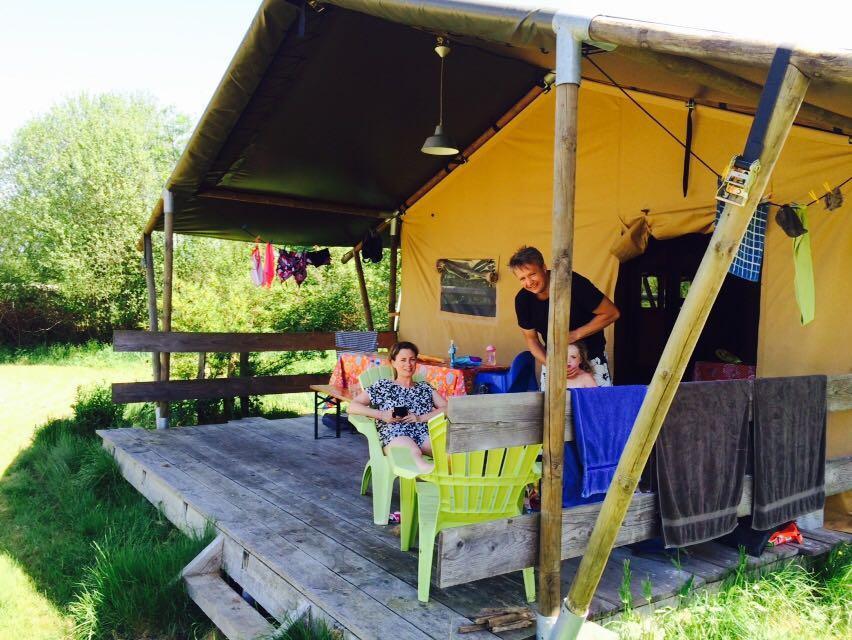 glamping in de Limousin Jarasses camping safaritenten