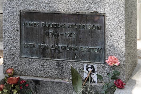 Pere Lachaise graf Jim Morrison