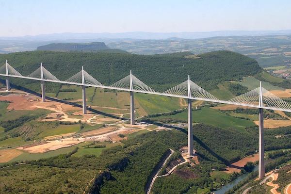Millau viaduct autoroute
