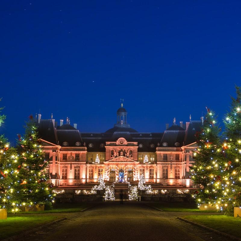Vaux-le-Vicomte kerstkasteel bij Parijs