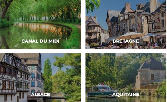 Routes vaarvakanties in Frankrijk